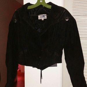 Western Express size S more M leather fringe coat